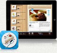 carta dolci sfogliabile con iPad