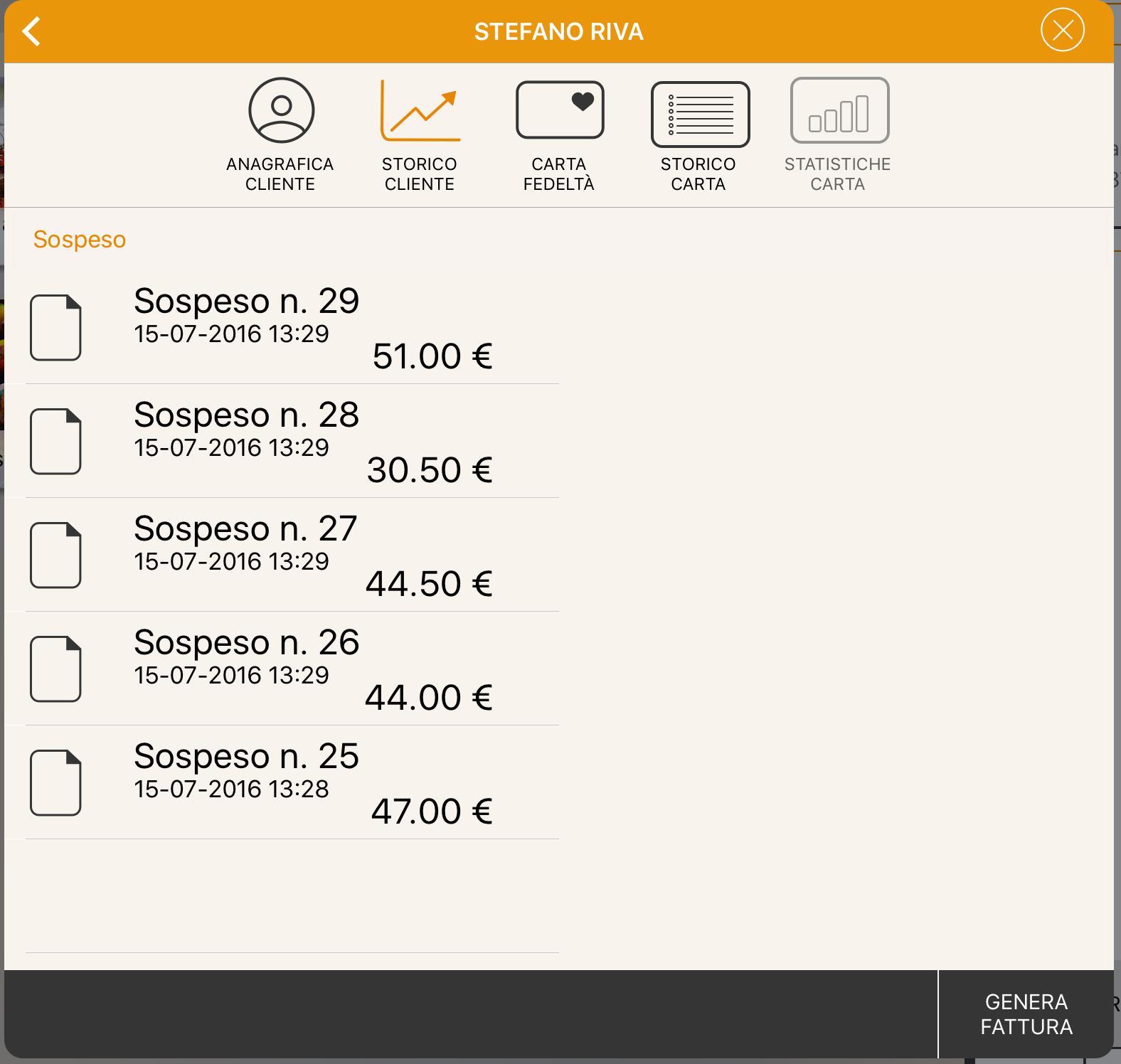 Cassa fiscale con iPad corrispettivo non pagato