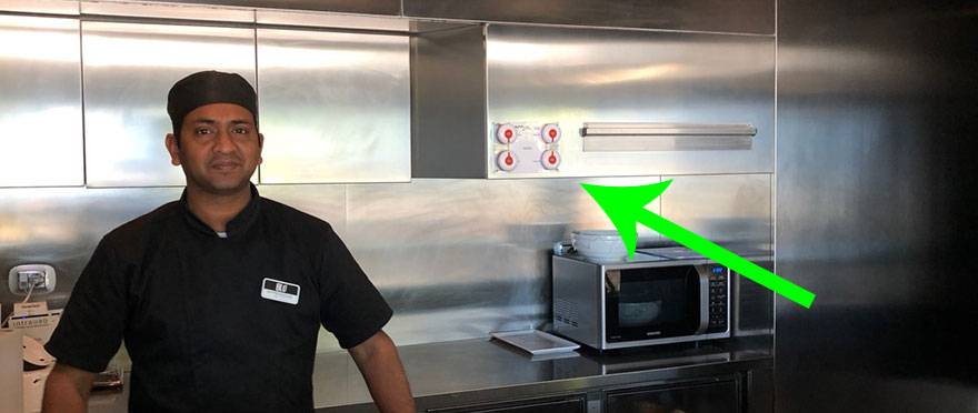Orologio chiama camerieri in cucina