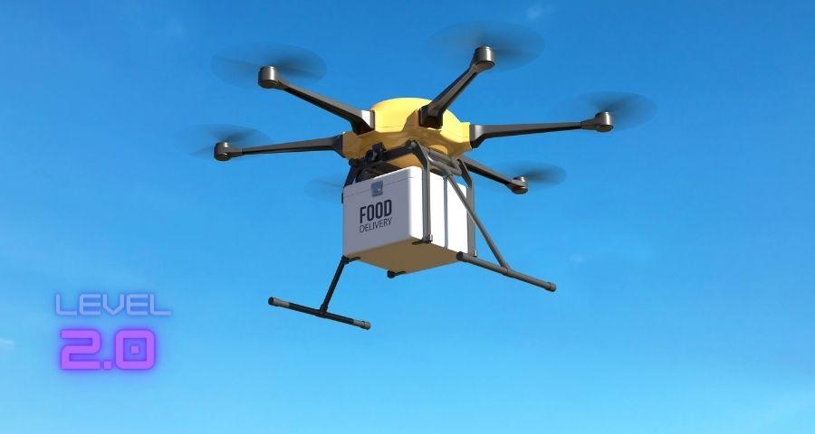 gestire asporto e delivery-drone